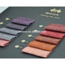 Tecido de tweed lua de Abraham, cores da moda, tecidos de casaco