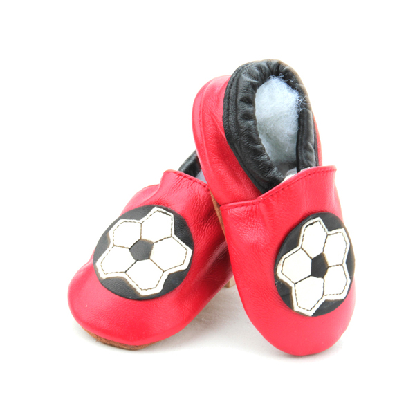 European Cup Soccer Football Pattern Baby Leather Shoes Customized