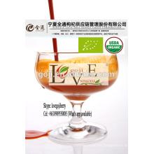 Jugo de bayas orgánicas Goji - Certificado orgánico-2016