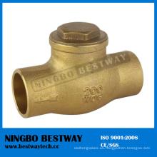 Válvula de retención de baño de latón con dos orificios (BW-C05)
