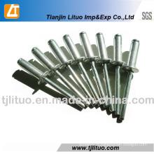 Rivets aveugles en aluminium de tête de dôme d'extrémité ouverte