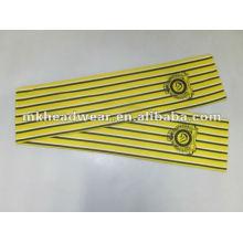 Bufanda / bufanda del fútbol de la impresión de la raya con insignia modificada para requisitos particulares