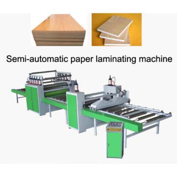 Línea de pegado de papel semiautomática