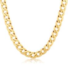 Pas cher Bijoux Dubaï 14K Gold Filled plaqué Long Neck Chain en acier inoxydable Collier New Gold Chain Design pour les hommes