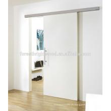 Artística de partição parede de madeira porta deslizante, porta deslizante de camarim