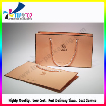 2016 with PP Rope Handle Kraft Wholesale Paper Bag