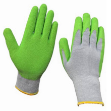 Cheap Green Coated Latex Safety Work Gloves