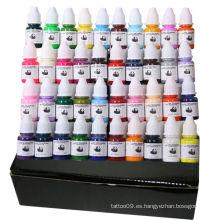Tinta de tatuaje de 40 colores