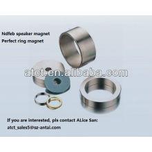 Imán de anillo grandes del neodimio altavoz recubierto