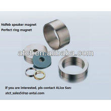 Big ring neodymium coated speaker magnet
