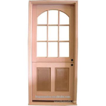 Factory custom wooden half dutch door with glass design