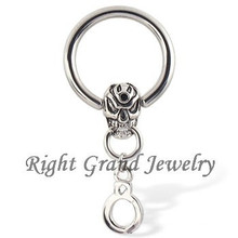 316L Steel Piercing Wholesale Skull Dangle Nose Ring