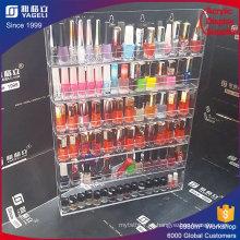 Rotating acrilico esmalte de uñas Rack Display Acrílico Organizador Lipstick titular