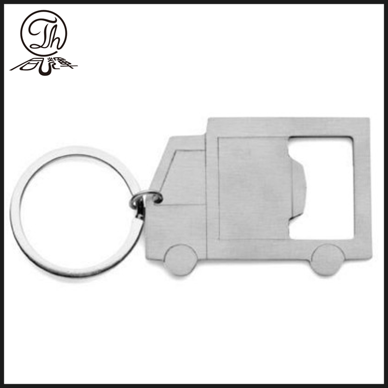 Van shape bottle opener key chain