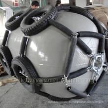 Defensas marinas de goma aprobadas ISO17357 de la marina de guerra gris fabricadas en China