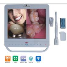 15inch blanco cámara intraoral cámara dental con puerto VGA + Video + HDMI + USB