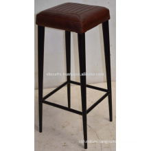 Vintage Industrial Leather Cushion Seat Bar Stool New Design