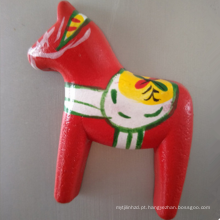 Wholesale Boutique dos desenhos animados cavalo madeira imãs de geladeira