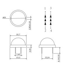 20mm runde Superhelligkeit LED (GNL-20003UED)