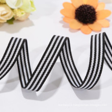 custom printed black and white ribbon