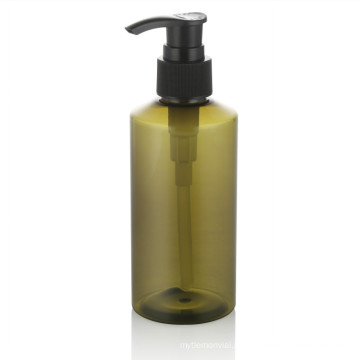 100 ml garrafa de plástico verde pet garrafa de plástico de embalagem para animais de estimação com plástico preto conjunto de maquiagem bomba atacado