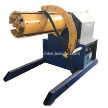 Electric uncoiler uncoiling machine