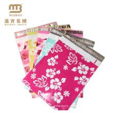Großhandelsgewohnheit druckte Boutique 2.5 Mil 10X13 Träne-Beweis-Blumen-Designer China-Polybriefkasten-Tasche mit Logo