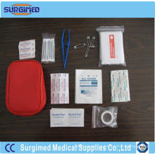 Conjunto de productos médicos de primeros auxilios para la familia.