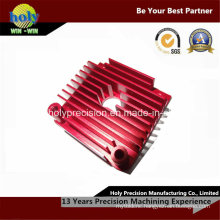 CNC Machining Aluminum Motorcycle Heat Sink with Anodizing