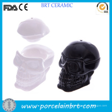 Personalized Ceramic Skull Egg Cups with Lid