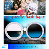 Portable Selfie LED Ring Flash Light for Camera Photography