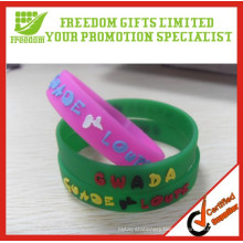 New Type Custom Logo Printed Eco-friendly Rubber Silicone Wristband