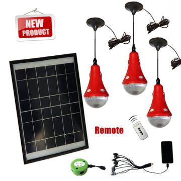 LED Mini-solar-Licht-Kits mit Akku und Fernbedienung Schalter