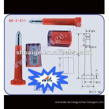 Hochsicherheits-Bolzendichtung BG-Z-011 Hochsicherheitsdichtung, Dichtungsbolzen, Hochsicherheits-Containerverschlussdichtung, Anhänger-Sicherheitssiegel