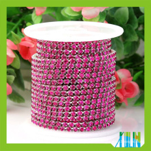 Rhinestone Cup Chain Glass Fancy Stone Close Cup Chain For Fashion Accessories