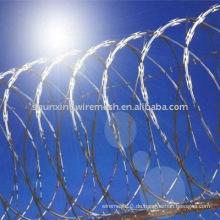 Razor Stacheldraht Grenze und Gefängnis Zaun