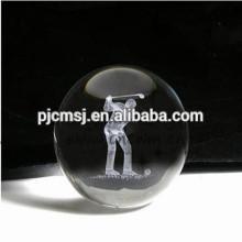 bola de cristal gravada personalizada do laser 3d para a decoração home