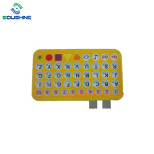 Yellow Toys membrane switch with 26 letters