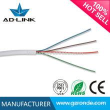 0.5mm BC / CCA 4 pares de código de color plano telecom cables de cobre 24awg / 26awg