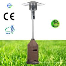 Wicker Pyramid Glass Tube Outdoor Gas Patio Heater