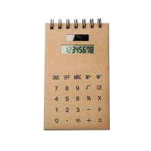 Kraft Cover Notebook Vertical com Calculadora Dual Power
