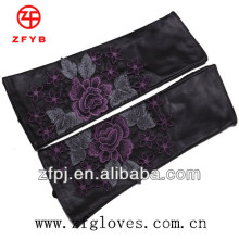 Gants longs en cuir de style chinois