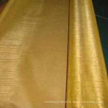 Malla de latón de cobre de 40X40 / malla de alambre de cobre amarillo de 2 mm