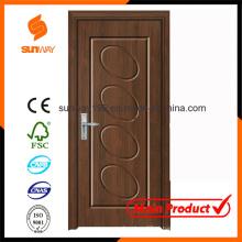 Elegante porta de madeira de PVC com venda quente