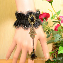 Facotry charms cloth accesseries wholesale FC-07 Black dimamond silicone rubber bracelet