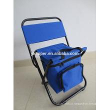 Fácil transporte cadeira de pesca dobrável com mochila