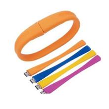 Модная настраиваемая силиконовая резина USB-браслет
