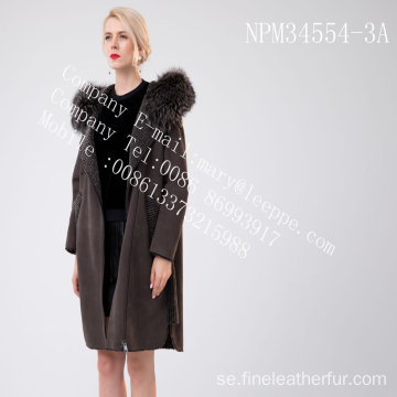 Lady Hooded Medium Hooded Fur Overcoat