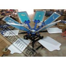 Máquina de impressão de tela de t-shirt 6-cor manual rotativa TM-R6
