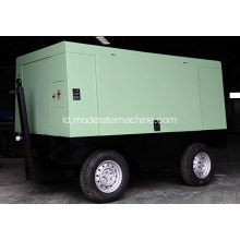 Electric Movable Screw Air Compressor untuk Bor Batu